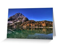 Reflection in the Seebensee Greeting Card