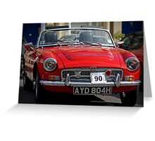 Classic MG Car Greeting Card