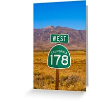 Highway in California Greeting Card