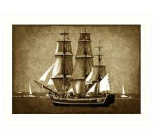 HMS Bounty Art Print