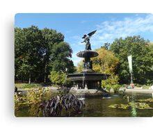 Bethesda Fountain, Autumn Colors, Central Park, New York City Canvas Print