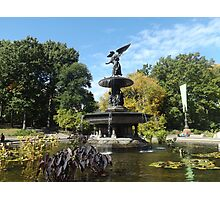 Bethesda Fountain, Autumn Colors, Central Park, New York City Photographic Print