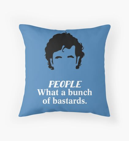 IT Crowd - What a Bunch of Bastards Throw Pillow