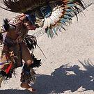 Indian dancer at the malecon of Puerto Vallarta by Bernhard Matejka
