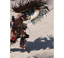 Indian dancer at the malecon of Puerto Vallarta Photographic Print