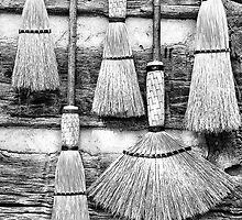 Old Brooms by Jane Best