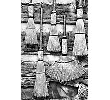 Old Brooms Photographic Print