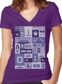 Friends TV Show Women's Fitted V-Neck T-Shirt