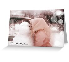 Holiday Card: Snowman's First Kiss Greeting Card
