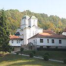 Monastery Kaona in Autumn - 1 by branko stanic