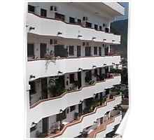 Structurs of an apartment building in Puerto Vallarta Poster