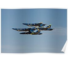 Blue Angels - Double Farvel Formation Poster