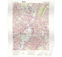 USGS Topo Map District of Columbia DC Washington East 256981 1965 24000 Poster