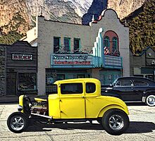"""Cruising Main Street""  1931 Ford Hot Rod and a 1948 Chevrolet by TeeMack"