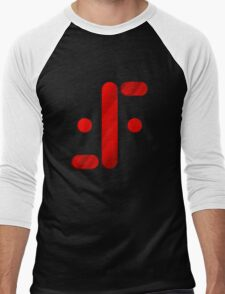 Visitor Symbol (Classic 'V') Men's Baseball ¾ T-Shirt