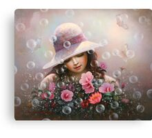 soap bubble girl - rose Sharon of song Canvas Print