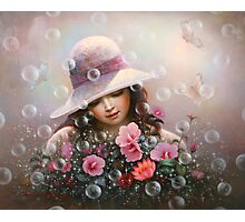 soap bubble girl - rose Sharon of song Photographic Print