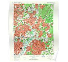 USGS Topo Map Maryland Washington East 256976 1957 24000 Poster