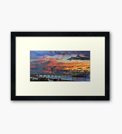 Weston Super Mare at Dusk Framed Print