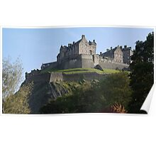 Edinburgh Castle in the autumn Poster