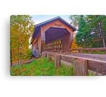 Smith Rapids Covered Bridge,Price County,Wisconsin U.S.A. Canvas Print