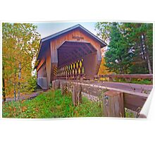 Smith Rapids Covered Bridge,Price County,Wisconsin U.S.A. Poster
