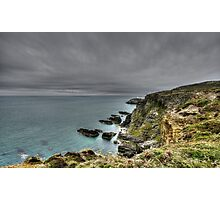 Rain Clouds Approach South Stacks Photographic Print