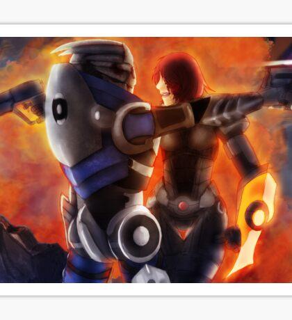 No Shepard without Vakarian  Sticker