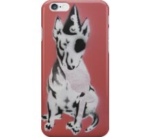 Red Graffiti English Bull Terrier iPhone Case/Skin