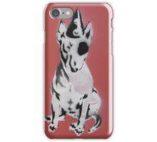 Red Graffiti English Bull Terrier iPhone Case/Skin