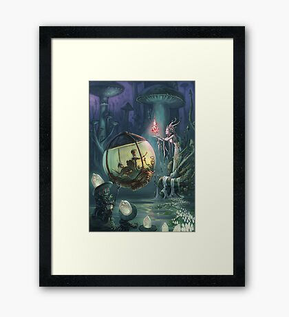 The Mushroom Fairy Framed Print