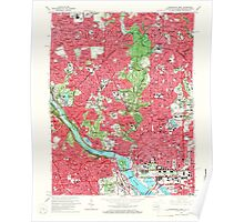 USGS Topo Map District of Columbia DC Washington West 256985 1965 24000 Poster