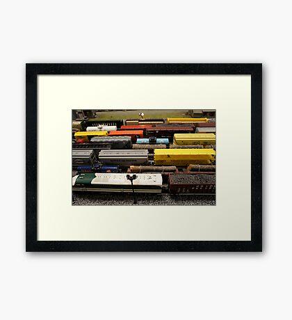 Nostalgic Toy Trains Framed Print