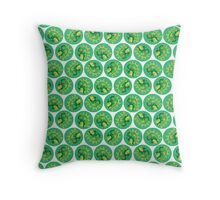Dino Print Throw Pillow