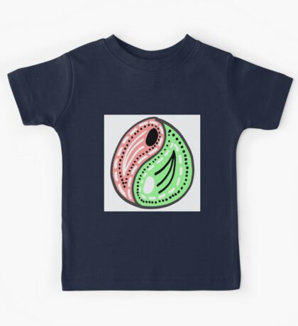 Yin and Yang Pattern Doodle Print Kids Tee
