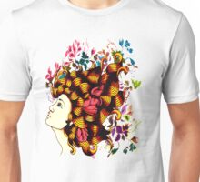 Flower Haired Beauty Unisex T-Shirt