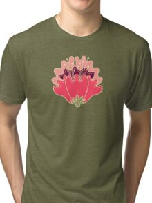 flat flowers Tri-blend T-Shirt