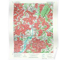 USGS Topo Map Maryland Washington East 256977 1965 24000 Poster