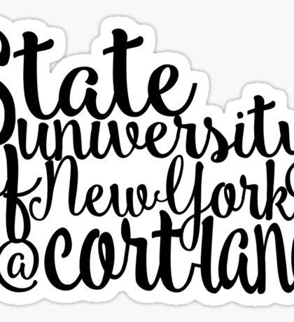 SUNY Cortland Script Sticker
