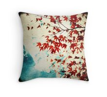 Autumnal Red Throw Pillow