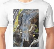 Swan Face In Driftwood  Unisex T-Shirt