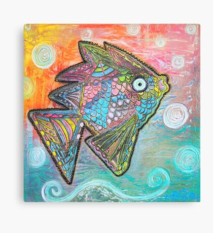 Psychedelic Fish Canvas Print