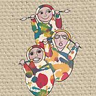 Hear no evil, see no evil, speak no evil iPhone case by Kelly Gatchell Hartley