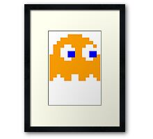 Pac-man Yellow Ghost Framed Print