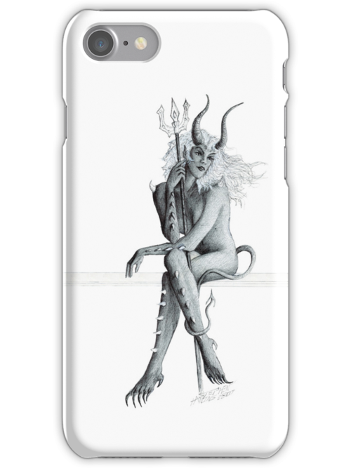 She Is Thinking About It (White Background) iPhone Case by Stephen Haning