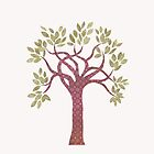 Tree 1 (white) iPhone case by Kelly Gatchell Hartley