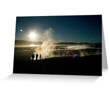 Volcanic Springs - Salar de Uyuni, Bolivia Greeting Card