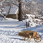 Winter wheelbarrow 1 by purplefoxphoto