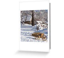 Winter wheelbarrow 1 Greeting Card
