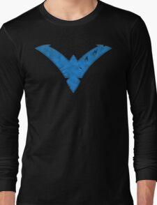 Nightwing Damaged (Blue) Long Sleeve T-Shirt